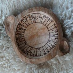 Cherry Wood Rune Bowl for Healing & Solace by TreeSeer