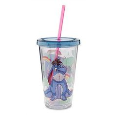 Disney Eeyore Tumbler with Straw | Disney StoreEeyore Tumbler with Straw - With this terrific tumbler Eeyore has fewer gloomy days from accidental spills. The lid twists tight for on-the-go thirst quenching, while the cool dual-layer design looks like a fast food drink cup but made from clear reusable acrylic.
