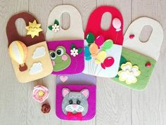 Your place to buy and sell all things handmade Felt Phone Cases, Mobile Phone Cases, Felt Crafts, Diy Crafts, Sewing Projects, Projects To Try, Felt Mobile, Handmade Gift Tags, Wooden Flowers