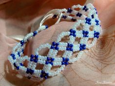 Free pattern for bracelet Santorini | Beads Magic #Seed #Bead #Tutorials