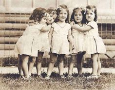 The DionneQuintuplets 1937.  May 28, 1934: Dionne Quintuplets born. When their parents arranged to exhibit them at the Chicago Century of Progress Exhibition, the government declared them unfit parents -- and put them on display themselves.