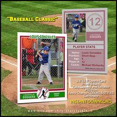 34 best baseball card templates images on pinterest baseball cards