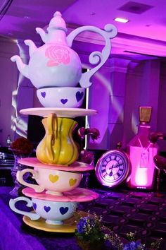 Giant Alice Crockery Stack, Alice in Wonderland Party Theme   Props, Ideas, Decorations & Supplies