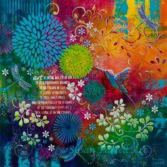 """""""Colours Of Life"""" by Susan Farrell. Art Prints available. susanfarrellart.com.au"""
