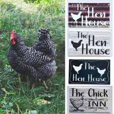 Shabby Chic Antiques, Vintage Shabby Chic, Chicken Coop Signs, Hen House, Unique Wall Art, Woodwork, Animals, Decor, Chicken Pen
