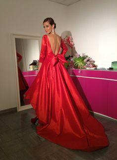 Micaela Oliveira #dress #red