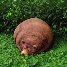 Sleeping Grizzly Bear Bean Bag