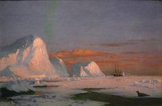 Arctic Sunset : William Bradford : Circa 1874 : Fine Art Print for sale online William Bradford, Art Prints For Sale, Fine Art Prints, Frederic Church, Painting Snow, Oil Painters, Traditional Paintings, Affordable Art, Art Day