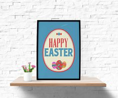 Hey, I found this really awesome Etsy listing at https://www.etsy.com/listing/227263011/happy-easter-blue-easter-printable-wall