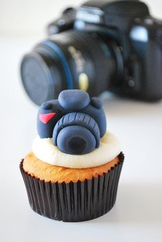 Camera Cupcake topper