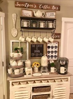 home coffee stations Farmhouse Style home coffee stations Small Indicate a sma …. – Style Of Coffee Bar In Kitchen Coffee Bar Station, Tea Station, Home Coffee Stations, Coffee Bars In Kitchen, Coffee Bar Home, Coffee Wine, Farmhouse Style Kitchen, Farmhouse Style Decorating, Farmhouse Decor