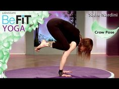 Yoga Crow Pose with Sadie Nardini from BeFit Yoga is an effective, core-strengthening Yoga exercise that is designed to burn fat, relieve lower back pain, and tone the arms, shoulders, chest, and abs. Challenge the abdominals and build strength around the spine with World-Renowned Yoga Expert, Sadie Nardini as she guides you through this earth t...