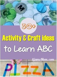 30+ activity and craft ideas to Learn ABC #LearnActivities