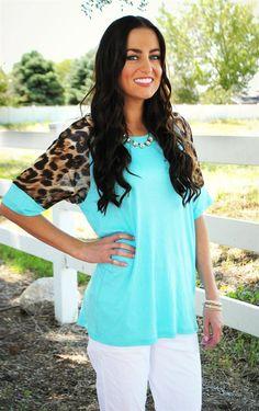 Leopard Sleeve Top | Jane
