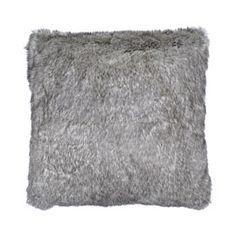 Heal's Charcoal Marl Faux Fur Cushion
