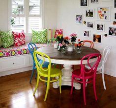 Antiga mesa com Cadeiras Modernas - Google Search