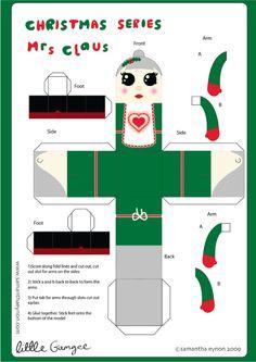 Blog Paper Toy christmas papertoys Samantha Eynon MrsClaus template preview Christmas papertoys de Samantha Eynon