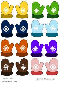 mitten match Winter Crafts For Kids, Winter Fun, Winter Theme, Winter Sports, Winter Snow, Winter Christmas, Winter Activities, Activities For Kids, January Preschool Themes
