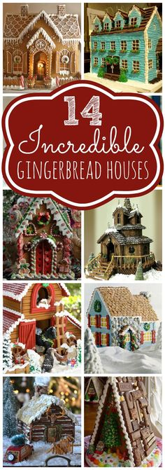14 Incredible Gingerbread Houses on Pretty My Party