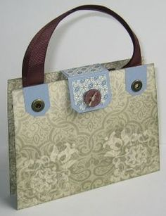 Love this Purse...has cards, a pen, envelops and even a spot for stamps.  Very cute set.  Could be made with any stamp set.  Tutorial included in link...