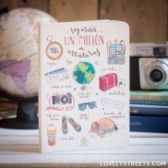 Libreta Lovely Streets - Hoy voy a vivir un millón de aventuras