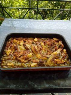 Κοτόπουλο με μπάμιες στον φούρνο !!! ~ ΜΑΓΕΙΡΙΚΗ ΚΑΙ ΣΥΝΤΑΓΕΣ