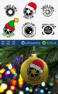 Santa cam SVG Christmas set cut files svg camera Cricut Machine jpg png pdf eps dxf Silhouette Christmas vinyl design for cutter machines