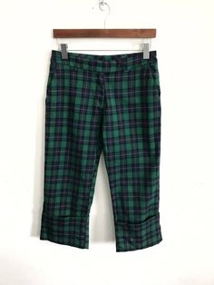 37762fa2562 Japanese Brand Vintage Japanese Designer Brand La Provencale Made In Japan  Tartan Check Plaid Cropped Pants