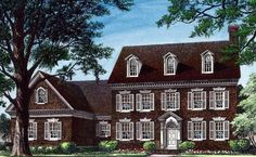 The best colonial house floor plans. Our designs include Dutch colonial style layouts, small 2 story blueprints & more! Colonial House Plans, Southern House Plans, Family House Plans, Traditional House Plans, Best House Plans, House Floor Plans, Dutch Colonial Exterior, Georgian Style Homes, Colonial Style Homes