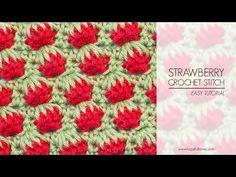 Hopeful Honey | Craft, Crochet, Create: How To: Crochet The Strawberry Stitch - Easy Tutorial