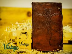Vintage Handmade Leather Journal by VintageLeatherSpace on Etsy