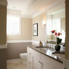 Bathroom Paint Design  like two colors