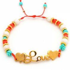 Pulsera Love Corazón   Dulce Encanto accesorios para mujer