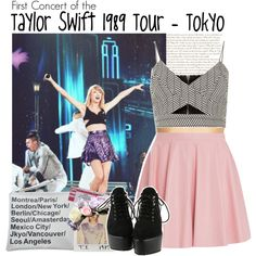 First Concert of the Taylor Swift 1989 Tour - Tokyo by albamonkey on Polyvore featuring moda, River Island, Drome and Forever 21
