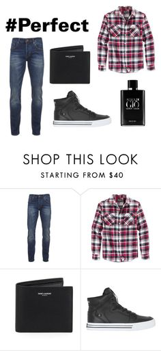 """Casual"" by bea-bako ❤ liked on Polyvore featuring Scotch & Soda, Retrofit, Yves Saint Laurent, Supra, Giorgio Armani, men's fashion and menswear"