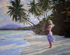 """????????? ?????? """"Untitled Beach (Mother and Chld)"""" by Howard Behrens"""