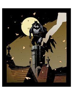 Batman (Gotham by Gaslight) art by Mike Mignola