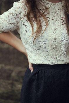 Perfect lace shirt.