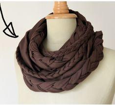 Fall infinity scarf DIY.