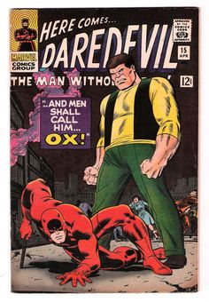 DAREDEVIL #15: Silver Age Grade 7.5 first appearance of the new Ox!  http://www.ebay.com/itm/DAREDEVIL-15-Silver-Age-Grade-7-5-first-appearance-new-Ox-/301417050560?roken=cUgayN&soutkn=5Rk6Cu