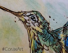 Wood Watercolor Wall Art Hummingbird Bird