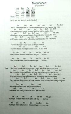 Moondance Song Lyrics And Chords, Great Song Lyrics, Guitar Chords For Songs, Ukulele Tabs, Guitar Songs, Saxophone Fingering Chart, Blues Guitar Chords, Ukulele Songs Beginner, Music Words