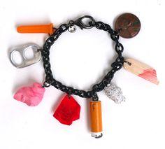 Mended Veil NYC street trash charm bracelet.