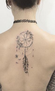 rose with dream catchers tattoos Spine Tattoos, Body Art Tattoos, New Tattoos, Flower Tattoo Drawings, Flower Tattoo Designs, Girls With Sleeve Tattoos, Tattoos For Women, Dreamcatcher Tattoo Back, Tatoo Rose