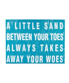 Look at this 'Takes Away Your Woes' Canvas Print on #zulily today!
