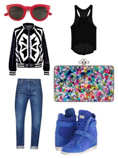 """""""Sport Chic"""" by stylishkitten-me on Polyvore featuring moda, C/FAN, French Connection, Go Green M by M, Philipp Plein ve Yves Saint Laurent"""