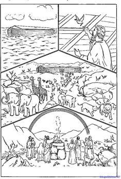 Historia de Noe 2 - Dibujos de la biblia | Angeles para colorear ...