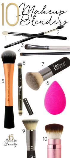 The 10 Best Brushes to Blend Your Makeup via @15 Minute Beauty