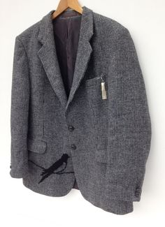 Vintage Harris Tweed Jacket Hand by didyoumakeityourself on Etsy