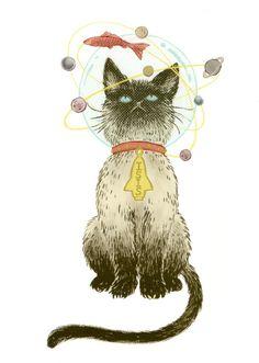 """""""Isis the Cat"""" (2007) - Illustration by Yuko Shimizu"""